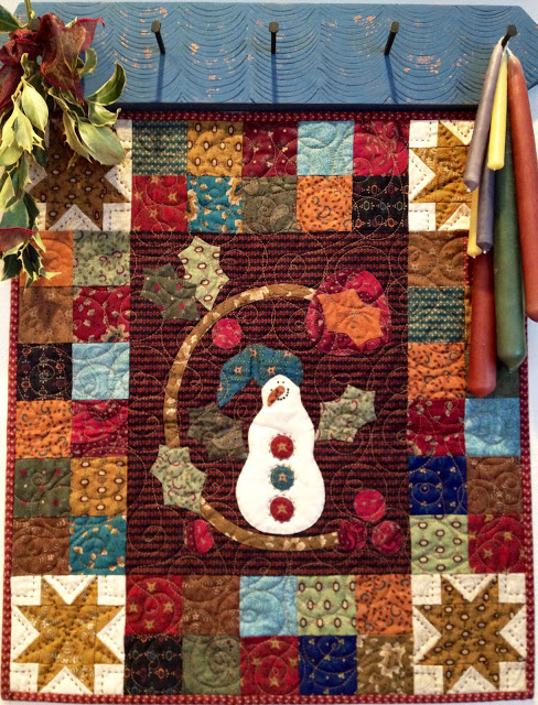 Hearthside Seasons Mini Winter quilt on wall