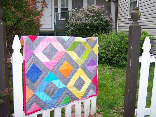 Rainbow Diamonds QUilt