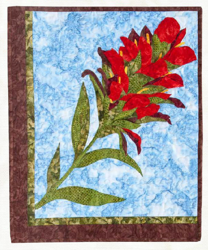 Wyoming Wildflowers - Indian Paintbrush by LadyBug's Cabin using fabrics from Equinox
