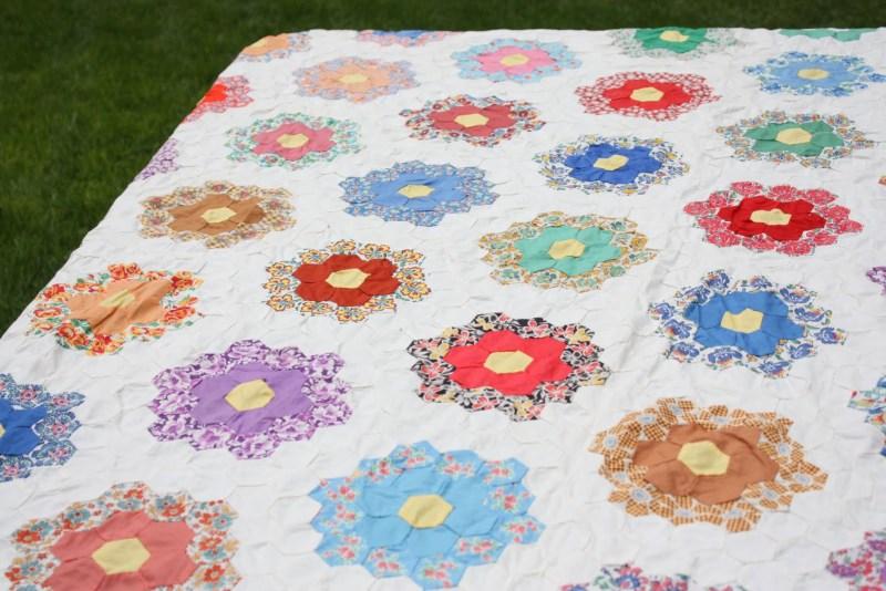 2-A-Antique Hexagon quilt