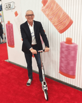 Alex Veronelli scoots through the aisles at Market!