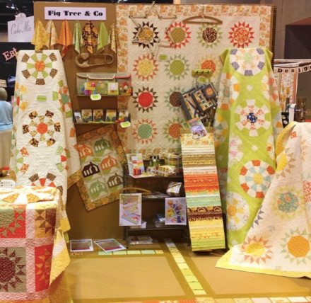 Fig Tree & Co. booth at Spring Quilt Market 2017 via @figtreeandco