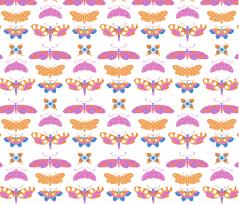 Patterned Papillons by KayaJoy