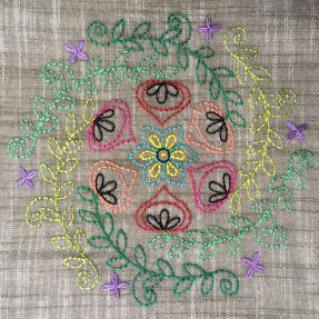Embroidery Mandala by Jo Avery, pattern by Carina Envoldsen-Harris - myBearpaw