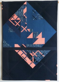 "1st Place: Eclat 35"" x 50"" By Sophie Zaugg Individual Member Le Sentier, Switzerland @lunalovequilts"