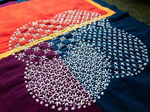 Sashiko Vest 1 Back Panel Stitching