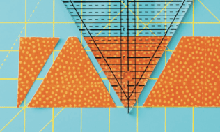 Cutting Triangles from Quilts with an Angle