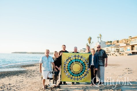 The Hoffman Family in California - image by Quiltfolk