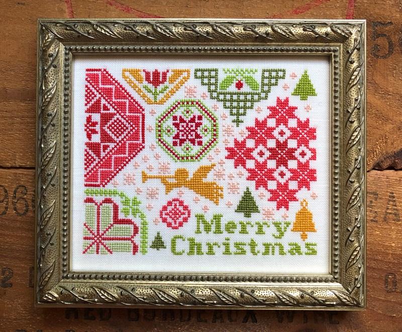 Jardin Prive quaker style Christmas cross stitch chart Quaker de Noel