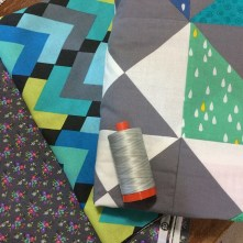 Aurifil & Fabric, prep for the Double Pinwheel Quilt
