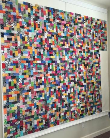 A quilt in progress