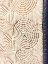 Closeup of the Spirals Quilt