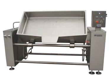 Sauteuse rectangulaire industrielle réalisée par Auriol SA