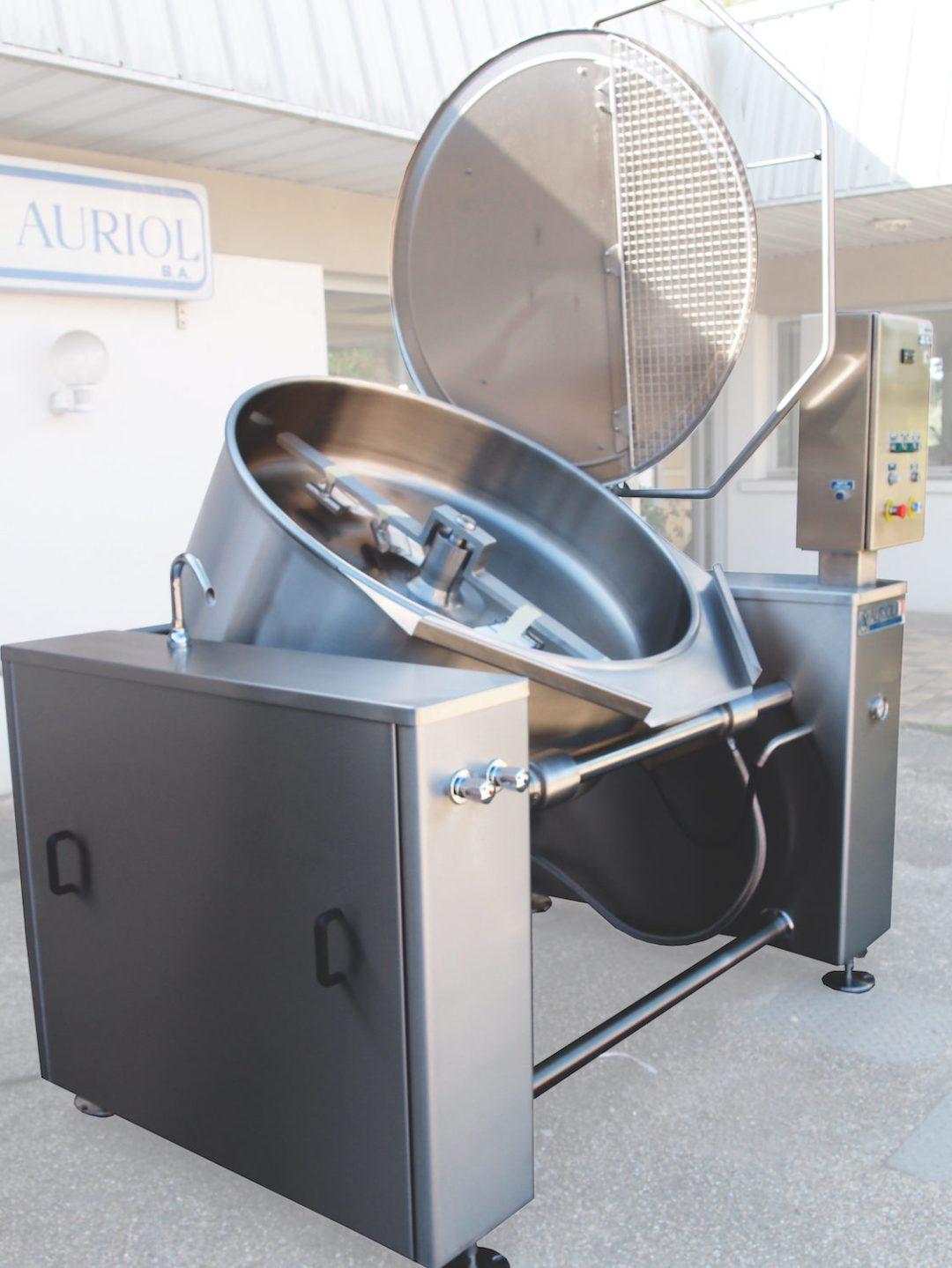 Sauteuse ronde industrielle réalisée par Auriol SA