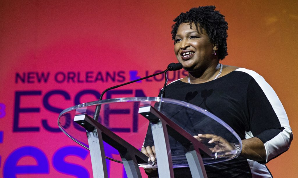 Democratic candidate for Georgia Governor Stacey Abrams seen at the 2018 Essence Festival at the Ernest N. Morial Convention Center on Saturday, July 7, 2018, in New Orleans. (Photo by Amy Harris/Invision/AP)