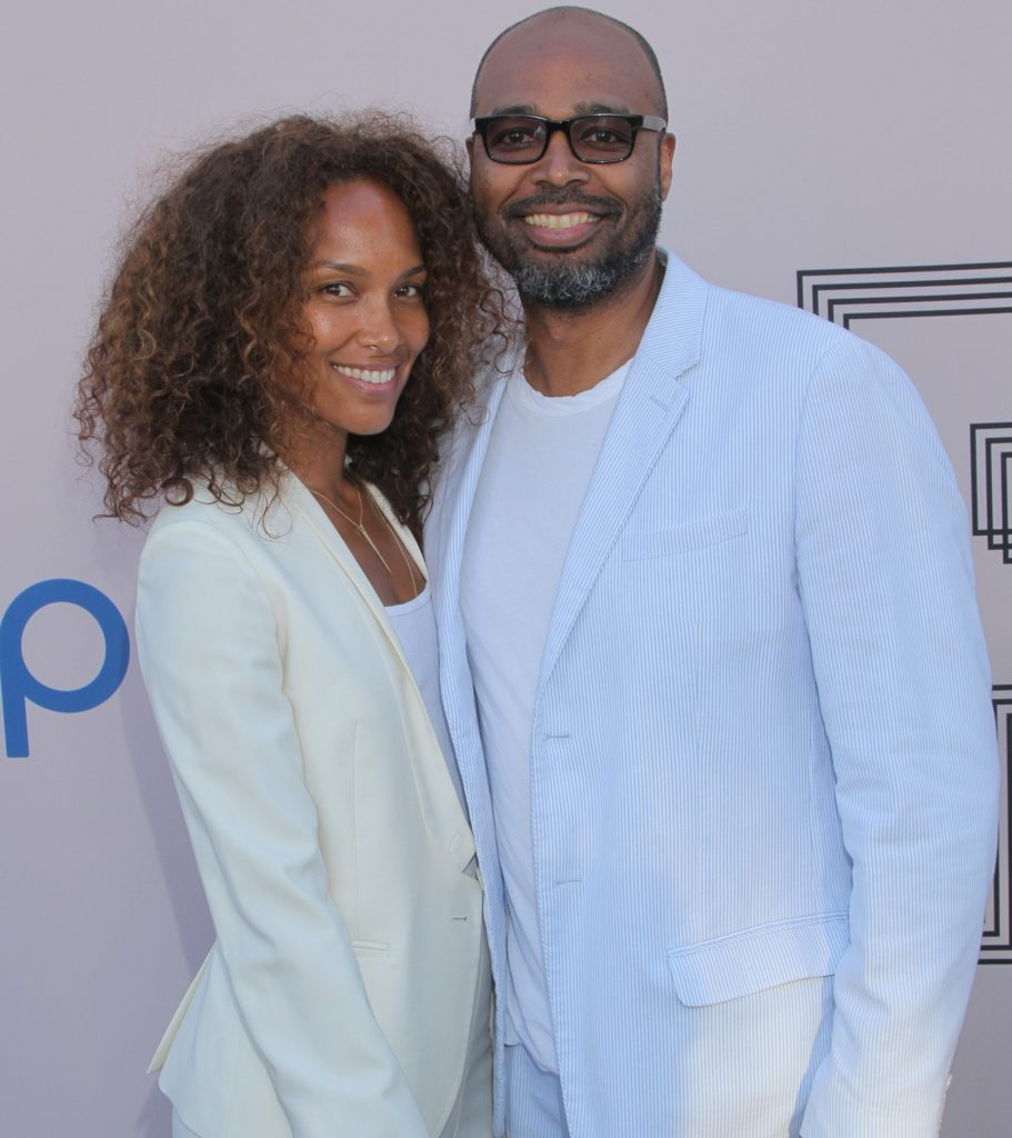 "Mara Brock Akil, left, and Salim Akil at the ""PRE"" BET Awards Dinner at Milk Studios on Saturday, June 28, 2014, in Los Angeles, Calif. (Photo by Arnold Turner/Invision/AP)"