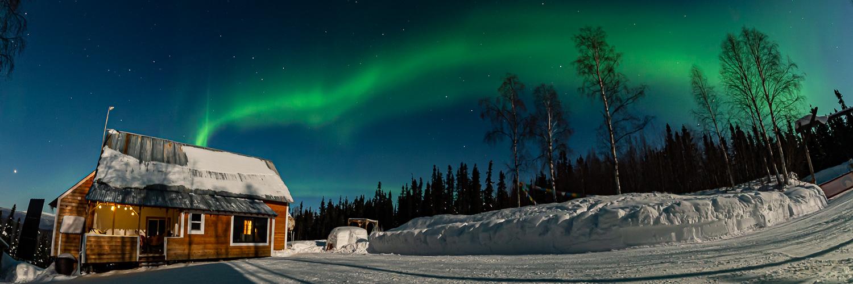 Aurora Borealis House Winter