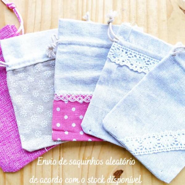 Saquinhos em tecido para florais