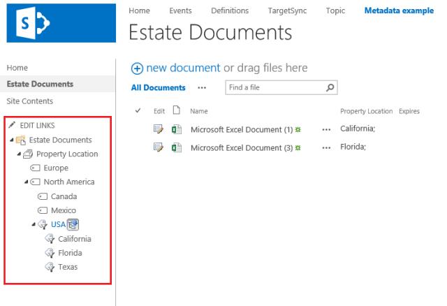SharePoint-Metadata-Navigation-example