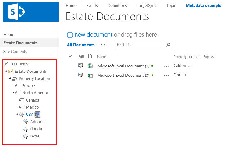 SharePoint-Metadata-Navigation-example