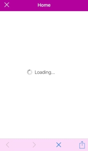 SharePoint mobile app ios loading