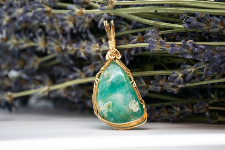Hand Wrapped Peruvian Opal, The Gentle Companion