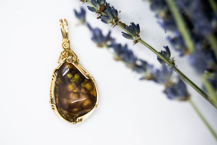 Stunning Hand Wrapped Fire Agate Pendant, The Spiritual Flame