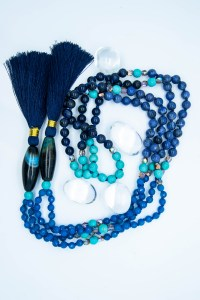 Blue Fire Agate 108 Mala With Sodalite & Magnesite