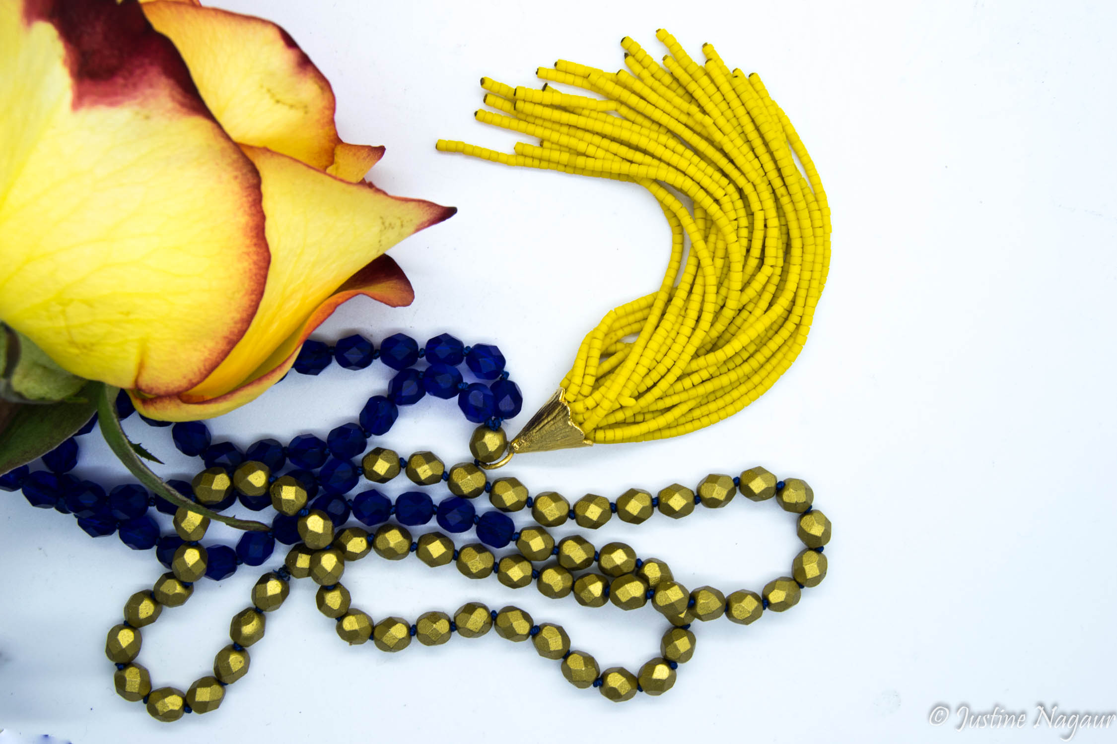 Handknotted Silk, Glass & Seed Bead Spring Mala