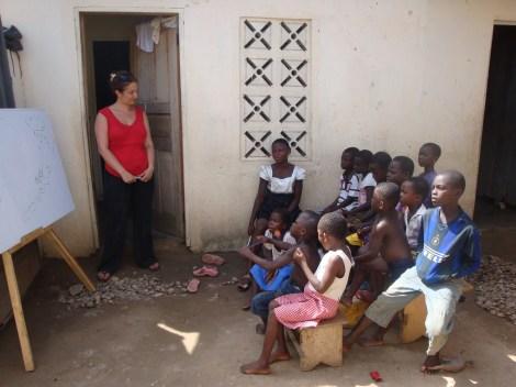 Teaching in Ghana, Aurora Kastanias