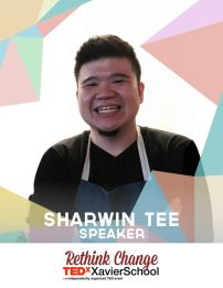 "Sharwin Tee is the host of his TV show, Lifestyle Network's ""Curiosity Got the Chef."" He considers this his primary profession and vocation, meeting and striving to exceed his clients' needs and requests such as providing recipes with specific dietary restrictions. (Text from TEDxXavierSchool page)"