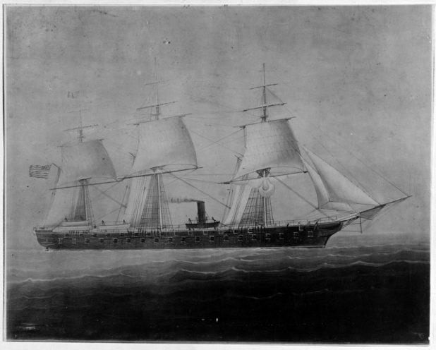 USS Colorado, circa 1856-1885. (U.S. Navy photo/Released)