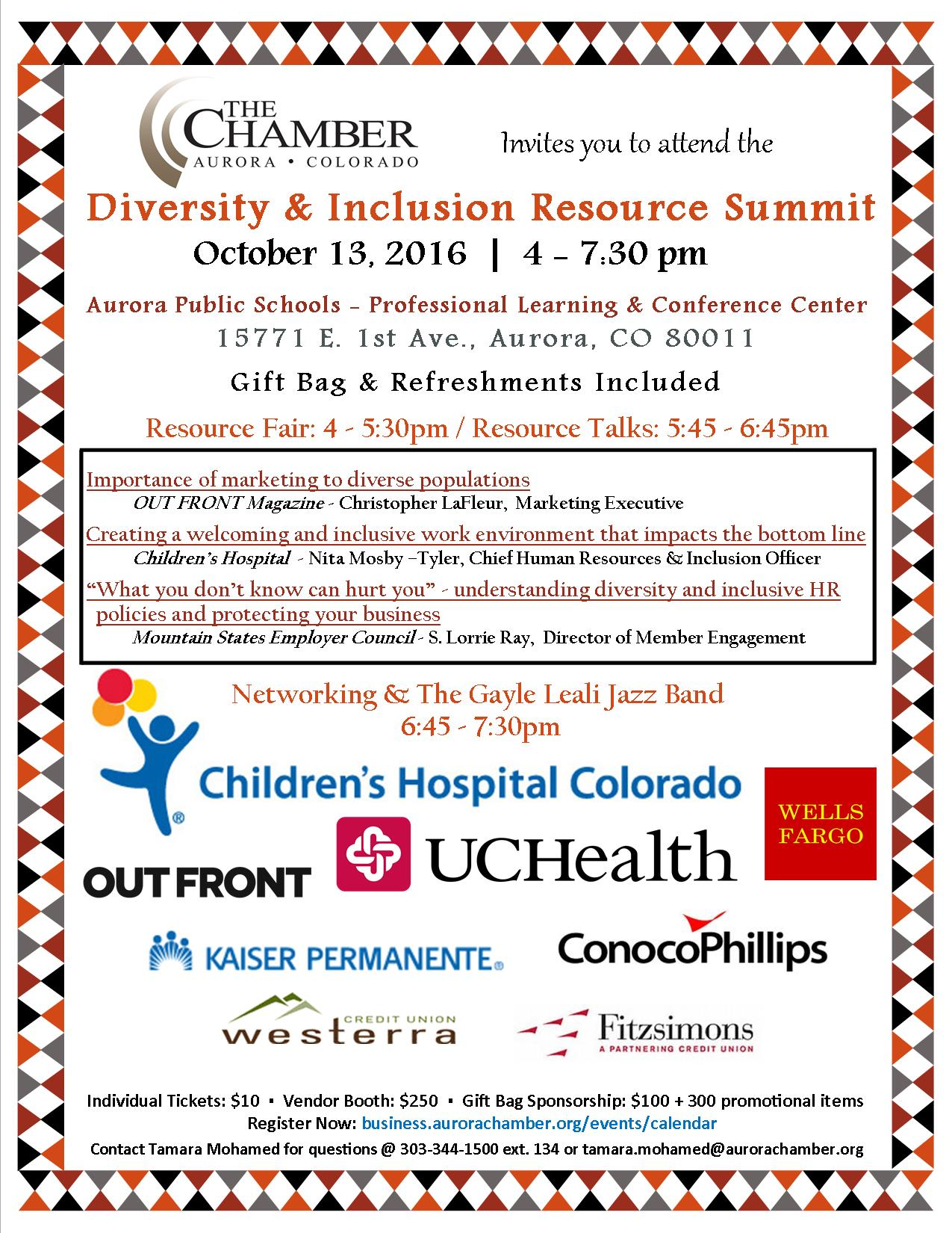 Diversity and Inclusion Summitt – Aurora Colorado Sister