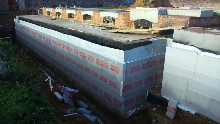Теплоизоляция стен цокольного этажа