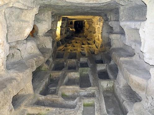 In den Höhlen von d'Ispica. - Cava d'Ispica