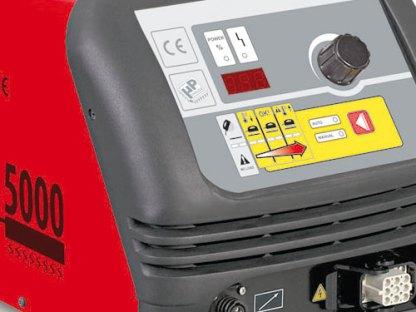 Seitliche Ansicht vom Induktionsheizgerät Smart Inductor 5000 Twister