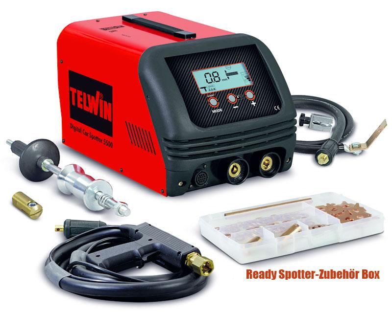 Karosserie Spotter Digital 5500 400V 4200A Telwin mit Zubehör