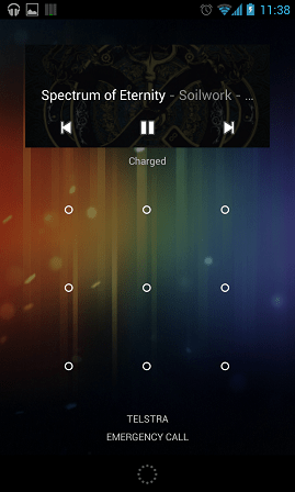 Google Muisc Lock Screen Widget