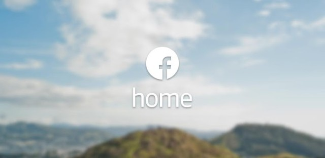 Facebook Home header