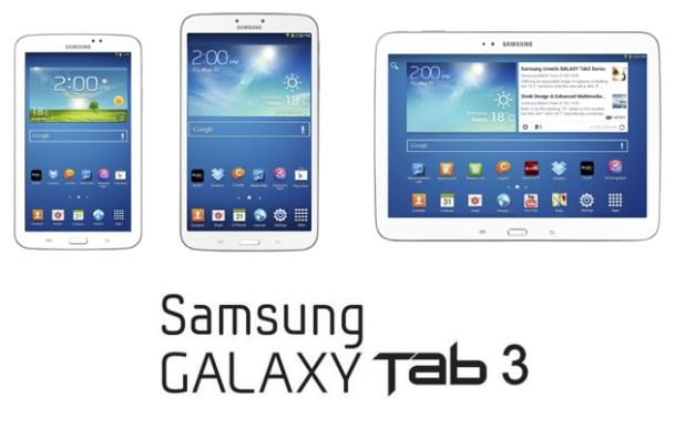 Samsung Galaxy Tab 3 range