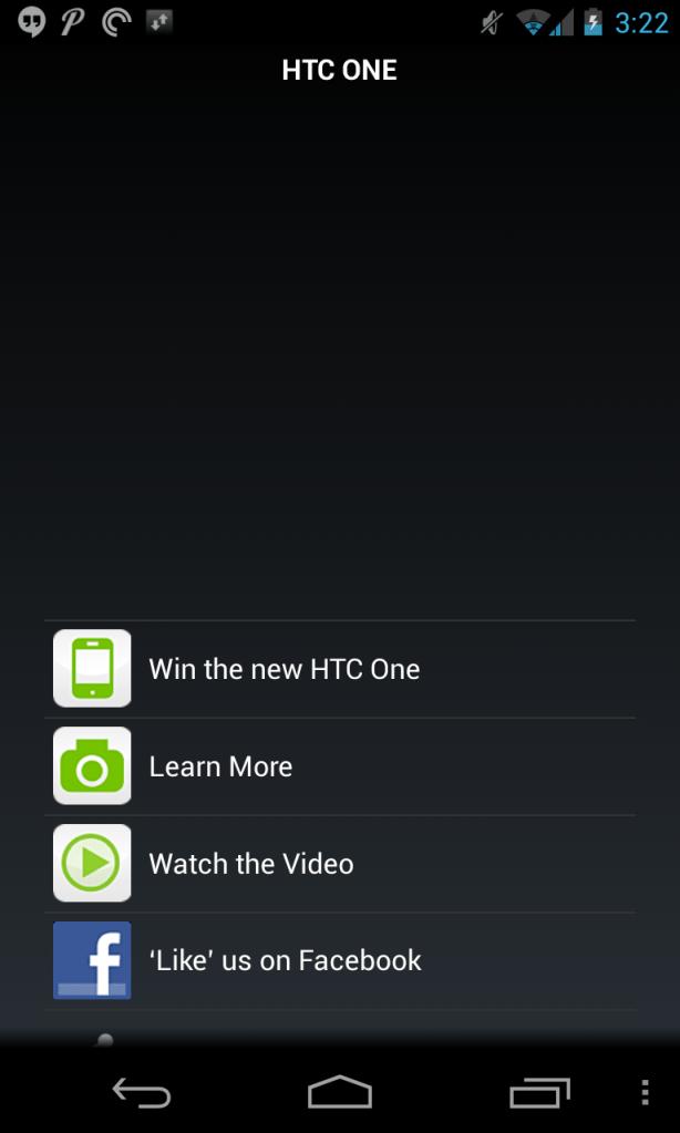 Shazam - HTC One scan