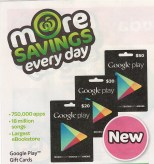 Woolworths Catalogue - Google Play Gift Cards