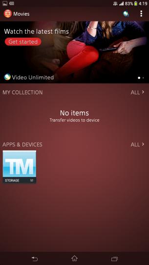 Sony Movies app