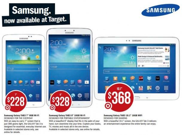 Target Galaxy Tabs