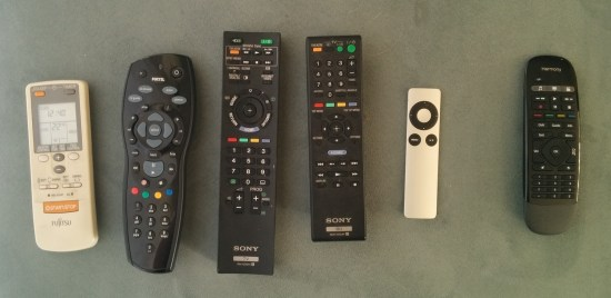 Replace these five remotes with just one