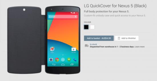Nexus 5 Quick Window