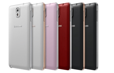 Samsung Galaxy Note 3 Colour Options