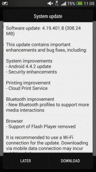 Android 4.4.2 HTC One Changelog