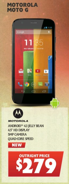 Moto G Outright at Telechoice