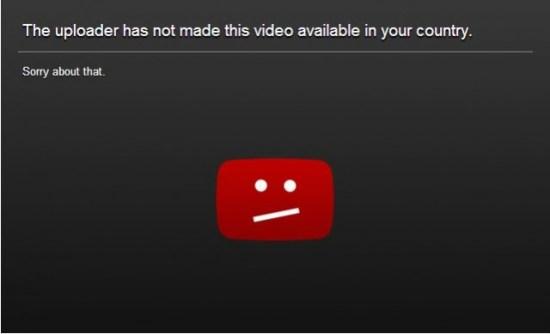 YouTube - Geo Blocked.